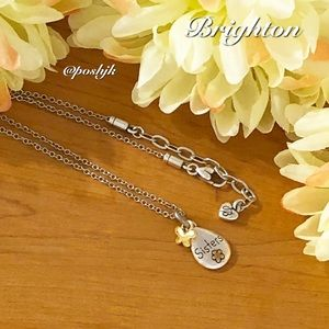 Brighton Necklace Sisters Inseparable Heart Butterfly Silver Gold